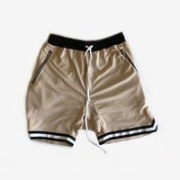 Zip-Pocket Basketball Shorts