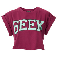 Geek Crop - Jersey Tops - Clothing - Topshop USA