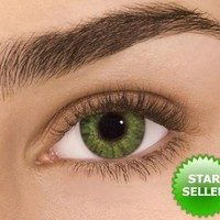 Gemstone Green Freshlook Colorblends Non Prescription Colored Contact Lenses