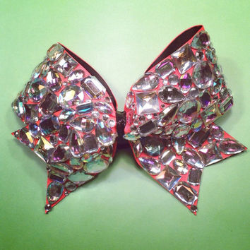 Diamond Bling 3 inch cheer bow