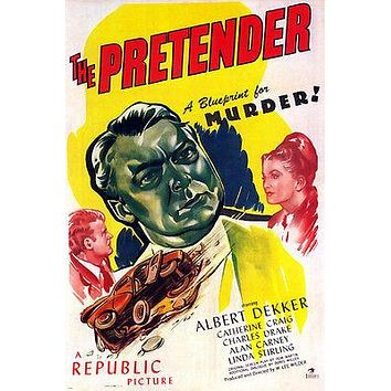 film noir THE PRETENDER movie poster ALBERT DEKKER KATHERINE CRAIG 24X36