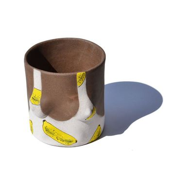 Banana Ceramic Planter