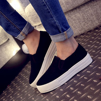 Canvas shoes large base platform shoes students in higher shoes