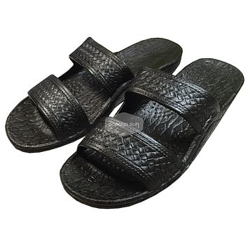 "Classic Black ""Hawaiian Jandals"" Pali Hawaii Jesus Sandals"