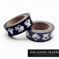 Halloween Ghost Printing Washi Tape Japanese Stationery 1.5*10meter Kawaii Scrapbooking Tools Masking Tape Adhesiva