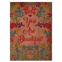 You Are Beautiful - Wood Card