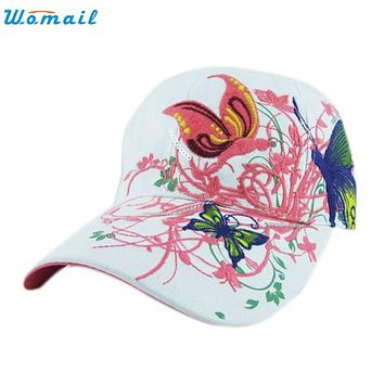 June 6 Fairy Store Embroidered Baseball Cap Lady Fashion Shopping Cycling Duck Tongue Hat Anti Sai Cap