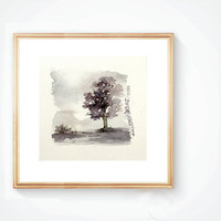 Smail Watercolor landscape painting #11 , Abstract watercolor , Original watercolor art , contemporary art , minimalist art ,