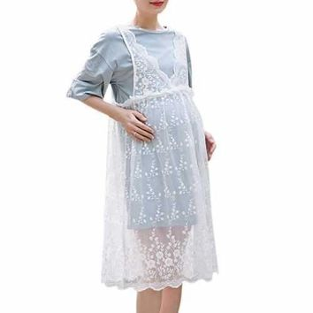 2pcs Lace Maternity Dresses