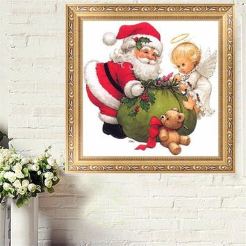 30x40cm Merry Christmas Santa Claus 5D Diamond Painting Embroidery Craft Cross Stitch Home Decor
