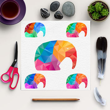 Geometric Elephant Clipart, Origami Elephant Clip Art, Geometric Animal, Polygon, Low Poly, Coupon Code: BUY5FOR8
