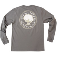 Southern Shirt Company Signature Logo Long Sleeve Tee- Sage Grey