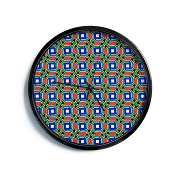 """Bruce Stanfield """"South Africa"""" Multicolor Modern Wall Clock"""