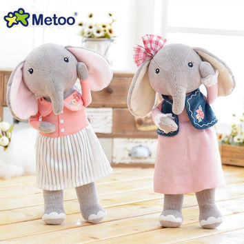 Famous Brand Metoo Angela forest lucky elephant cute plush doll couple doll a generation Angela Plush Toy Sweet Gift For Kids