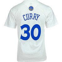 Stephen Curry Golden State Warriors White Jersey Name and Number T-shirt Small