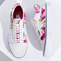 Vans Hawaiian Floral Old Skool Sneaker- White W