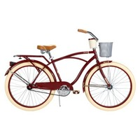 "Huffy Deluxe 26"" Men's Cruiser Bike with Basket and Beverage Holder"