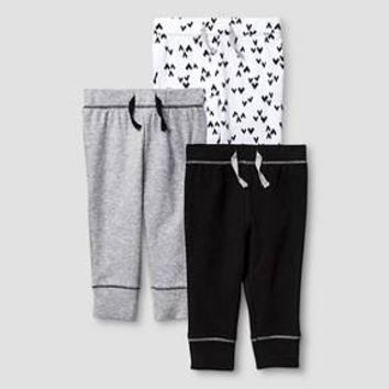 Baby 3 Pack Pants Baby Cat & Jack™ - Heather Grey/Ebony