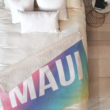 Zoe Wodarz Maui Fleece Throw Blanket