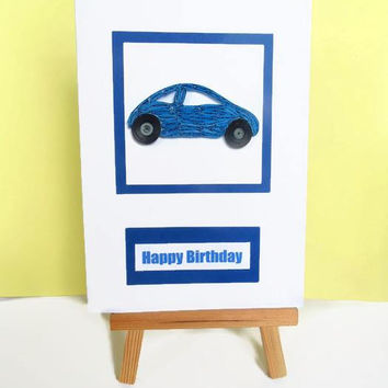 Car birthday card, Birthday card, handmade card, car card, card for him, happy birthday card, greeting card, male birthday, card for dad