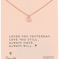 """Dogeared """"Rose Gold"""" Loved You Yesterday Necklace, 18"""""""