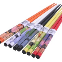 Happy Sales 5 Pairs Japanese Geisha Chopsticks Gift Set VD Color, Multicolor