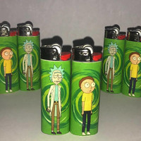 Rick & morty lighter pair