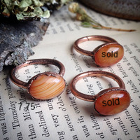 Oval Carnelian Ring - size 7.75