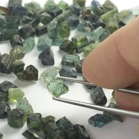 10ct+ Mixed Blue/Green Tourmaline Rough Parcels