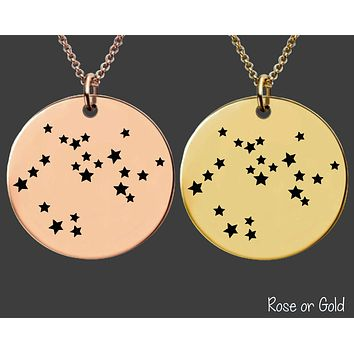 Sagittarius Constellation Necklace | Rose Gold or Gold Zodiac Necklace