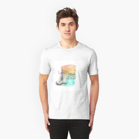 'Dreamer Sail Quote Watercolor' T-Shirt by DesignsbyAngela