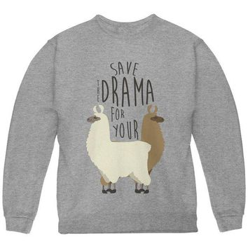 DCCKJY1 Save the Drama for Your Llama Pun Youth Sweatshirt
