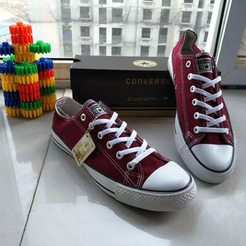 """Converse"" All-match Fashion Casual Male Female Classic Style Canvas Straps Shoes Cloth Shoes Plate Shoes  Single Shoes"