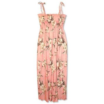 melon hawaiian maxi dress