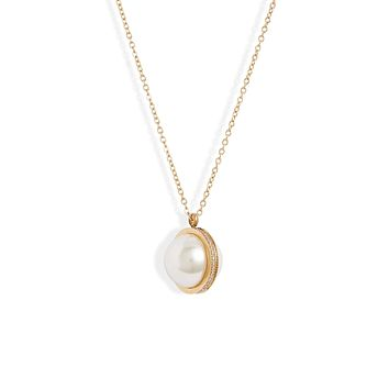 Pearl Crystal Orbit Necklace | More Colors Available
