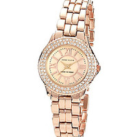 Anne Klein Rose Goldtone Link Bracelet Watch