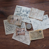 Miniature old maps