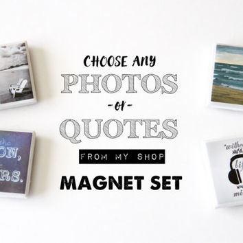 Photo magnets, quote magnets, custom magnets fridge magnets, custom gifts office magnets, best friend gift for her, mini magnets tile magnet