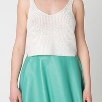 Sleeveless Knitted Cropped Tank
