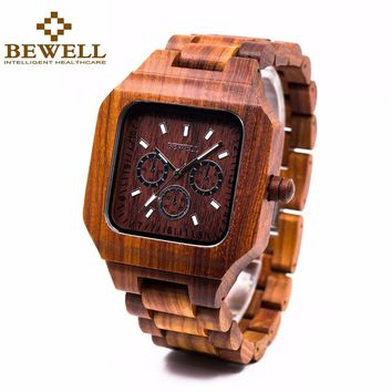 BEWELL Wood Watches with high end Quartz Movement and quality clasp