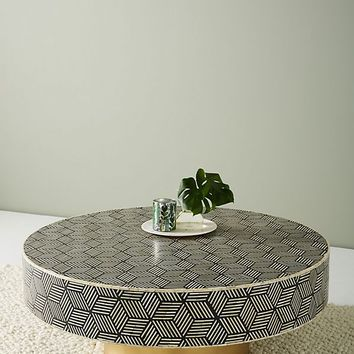 Targua Optical Inlay Coffee Table