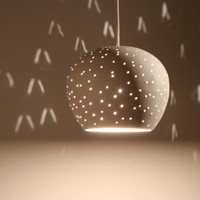 "Claylight Pendant light: 5"" Dot Pattern"