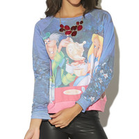 Alice Tea Party Sweatshirt | Wet Seal