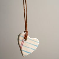 Two Lines Small Heart Shape Notebook necklace
