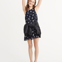 Womens Chiffon Swing Dress | Womens Dresses & Rompers | Abercrombie.com
