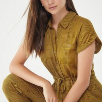 UO Tilda Plaid Jumpsuit | Urban Outfitters