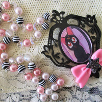 Sailor Moon Necklace - LUNA - Pastel goth, fairy kei, goth, 90's