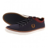 Fred Perry Hallam Twill Plimsolls - Footwear from The Menswear Site UK