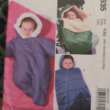 SALE Uncut McCall's Sewing Pattern, 6635! Newborn/Toddlers/Large/XL, Snowsuit/Bunting/Blankets/Camping Sleeping Bag/Swaddler/Winter/Fall/Spr