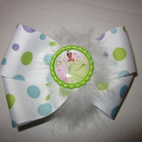 Disney Princess Tiana Simple Boutique Hairbow By Sweetpeas Bows & More